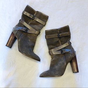 Coach   Alexandra Suede Heeled Boots 7.5